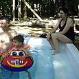 Dr., Kobe & Alex at the pool
