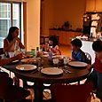Dinner: Visit from Bobo, Baya & Tia