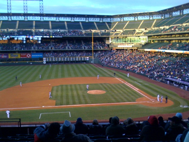 At the Rockies game with Kobe